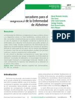 Biomarcadores Para El Diagnostico de La Enfermedad de Alzheimer