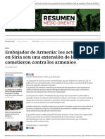 Embajador de Armenia_ Los Actos Turcos en Siria Son Una Extensión de Lo Que Cometieron Contra Los Armenios – Resumen de Medio Oriente