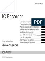 Manuale Registratore RecorderSony ICD-PX82041663098M