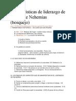 Características de Liderazgo de La Vida de Nehemías