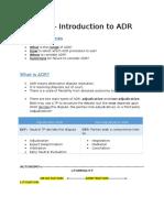 Alternative Dispute Resolution Sample
