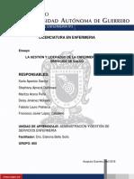 LA GESTIÓN Y LIDERAZGO DE ENFERMERÍA EN LOS SERVICIOS DE SALUD