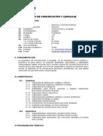 Silabo - Comunicacion y Lenguaje - Eap. Derecho - 2018-i - Grupo c