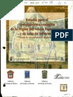 Estudio Para El Ordenamiento Ecológico de La Región Popocatepetl