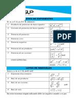 Formulario Leyes de Exponentes