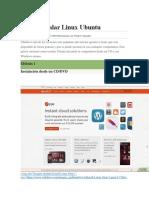 Cómo Instalar Linux Ubuntu