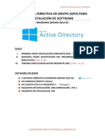 Práctica 8 - Directiva de Grupo (GPO) Para Instalación de Software