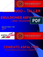 Tecnologia de Emulsiones Asfalticas - Generalidades