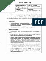 CIRCULAR 007 2016 Amended UTPRAS Guidelines