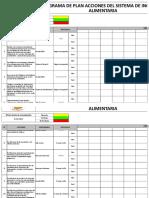 D-sgsa-001 Programa de Plan de Acciones Del Sistema de Inocuidad Alimentaria