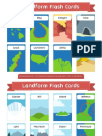 Landform Flash Cards 2x3