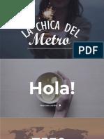 Texto Promocional – La Chica del Metro