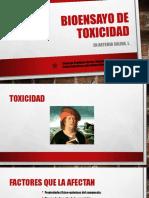 Bioensayo de Toxicidad 1