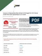 Rajswasthya Recruitment PDF
