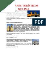 Articulo de Lugares Turísticos de Lima