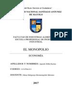 Monografia Monopolio Economia
