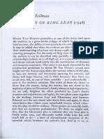 1.5. Heilman - The Unity in King Lear
