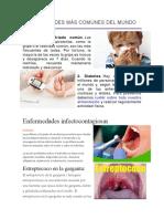 Enfermedades Comunes, Infectocontagiosa, Hereditarias, Nutricionales