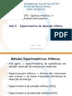 Aula 5 - Espectrometria de Absorção Atômica
