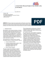 Limits of Applicability of the Finite Element Explicit Joint Model in The