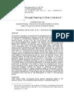Realization Through Hearing in Chan Literature