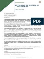 Estatuto Por Procesos de Ministerio de Salud Publica