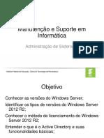 Aula 01 - Windows Server 2012 R2