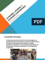 Economía Informal y Economía Subterranea
