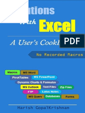 Solutions With Excel a Users CookBook | Microsoft Excel