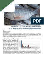 La Tilapia y Su Contribución Al Desarrollode La Acuicultura y La Seguridad Alimentaria
