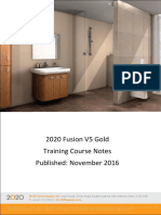 2020 Fusion 5 Gold Training Notes
