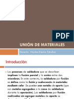 Union de Materiales