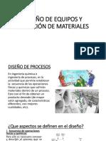- Diseño de Equipos y Seleccion de Materiales