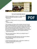 Servant Leadership Quotes