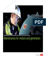 Maintenance for Motors and Generators TFjelldalen ABB