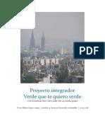 proyecto integrador  Verde que te quiero verde