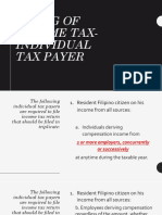 Filing of Income Taxes