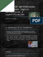 Núcleo de aprendizajes Relaciones lógico-matemáticas y cuantificación