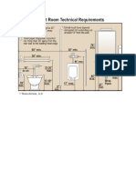 Toilet Room Technical Requirements