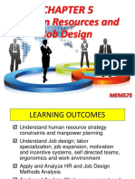 CHAPTER 5 Human Resources and Job Design