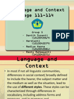 Languange and Context