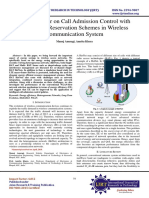 Review Paper on Call Admission Control with Bandwidth Reservation Schemes in Wireless Communication System