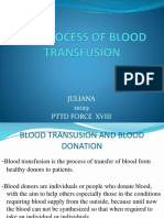 The Process of Blood Transfusion