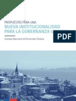 3. Propuestas Para Una Nueva Institucionalidad Para La Gobernanza Urbana
