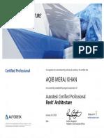 Aqib Revit Certificate