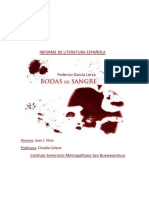 Informe de Literatura Española