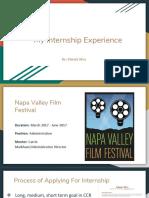 internship presentation - napa valley film festival