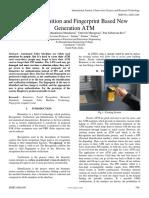 Face Recognition and Fingerprint Based New Generation ATM
