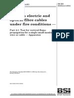 Bs en 60332-2!1!2004 着火条件下电缆和光缆的试验 第2-1部分 单根小型绝缘电线或电缆的垂直火焰蔓延的试验 装置
