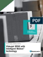 Br 9550 Videojet 9550 With Intelligent Motion Technology en Sg